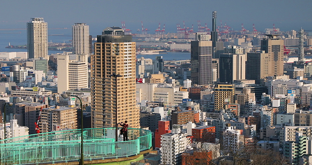View of Kobe skyline, Kobe, Kansai, Japan, Asia - 800-3534