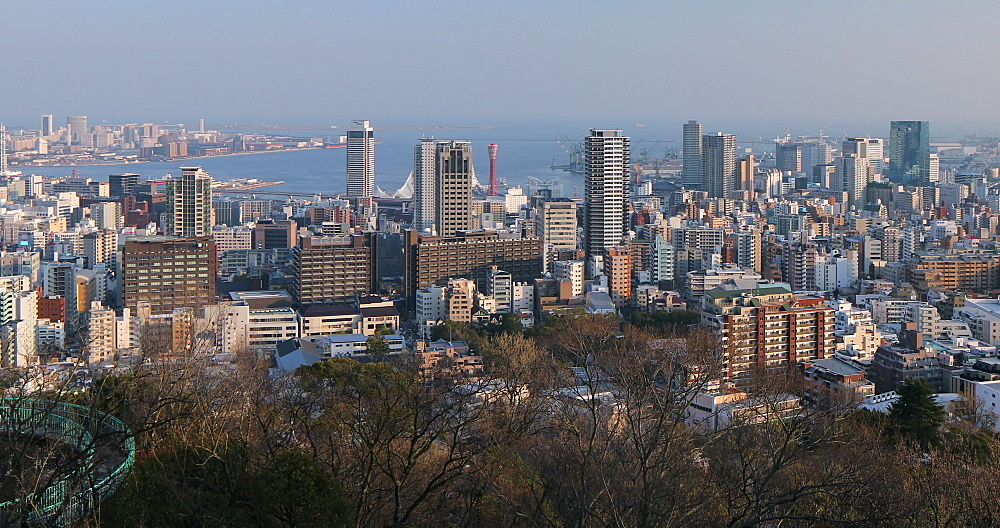 View of Kobe skyline, Kobe, Kansai, Japan, Asia - 800-3535