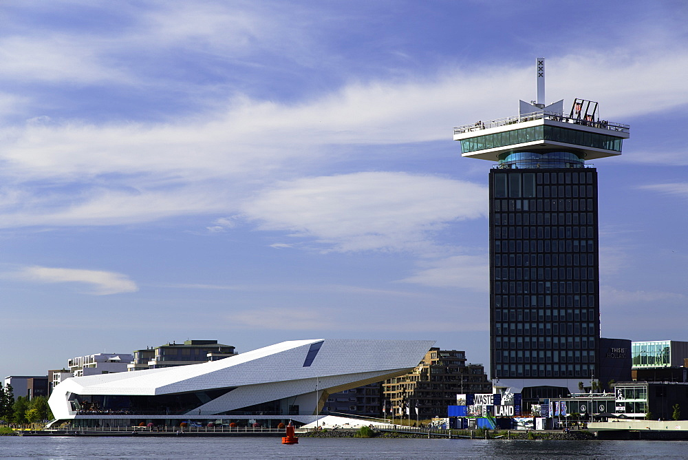 ADAM Tower and Eye Film Museum, Amsterdam, Noord Holland, Netherlands, Europe