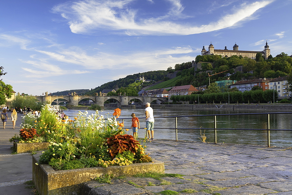 Marienberg Fortress and River Main, Wurzburg, Bavaria, Germany - 800-3588