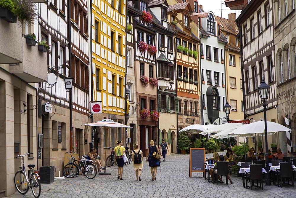 Weissergerbergasse Street, Nuremberg, Bavaria, Germany, Europe - 800-3591