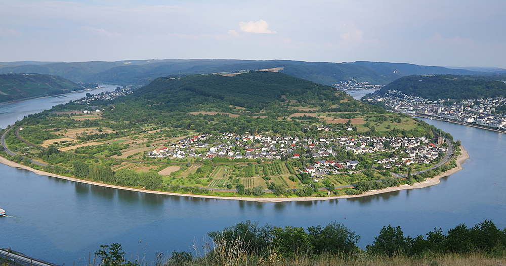 View of Boppard and River Rhine, Oberwesel, Rhineland-Palatinate, Germany - 800-3623