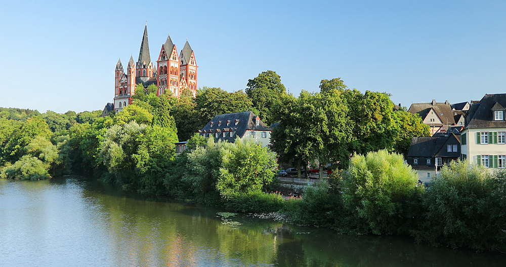 Limburg Cathedral and River Lahn, Limburg, Hesse, Germany - 800-3627