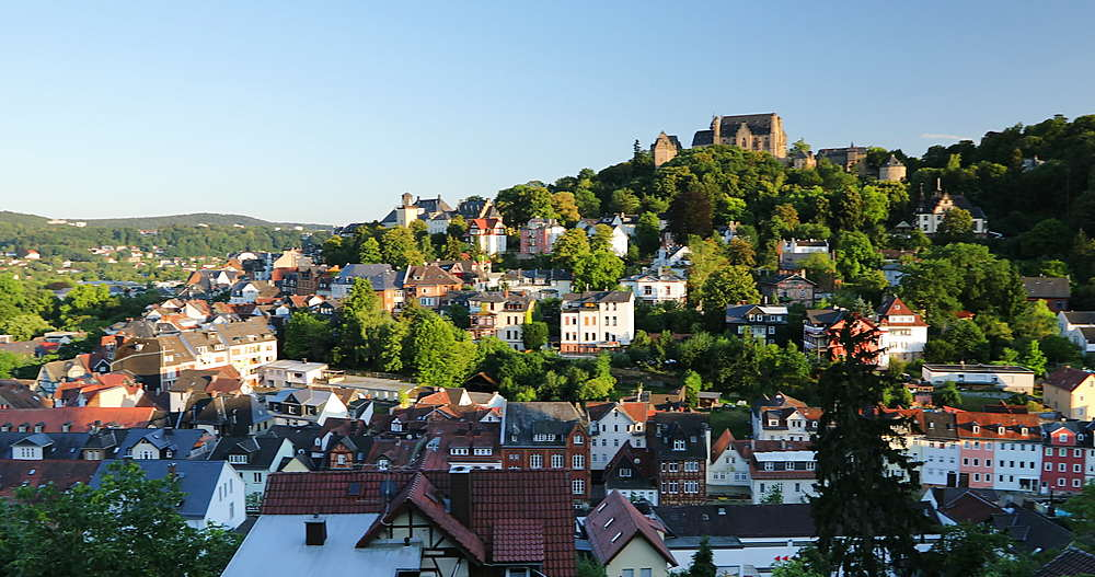 View of Marburg, Hesse, Germany