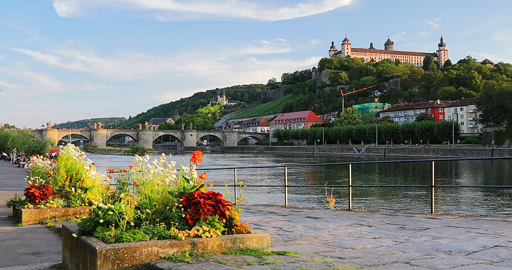 Marienberg Fortress and Old Main Bridge, Wurzburg, Bavaria, Germany - 800-3634