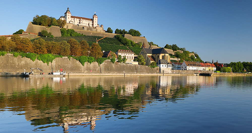 Marienberg Fortress and River Main, Wurzburg, Bavaria, Germany