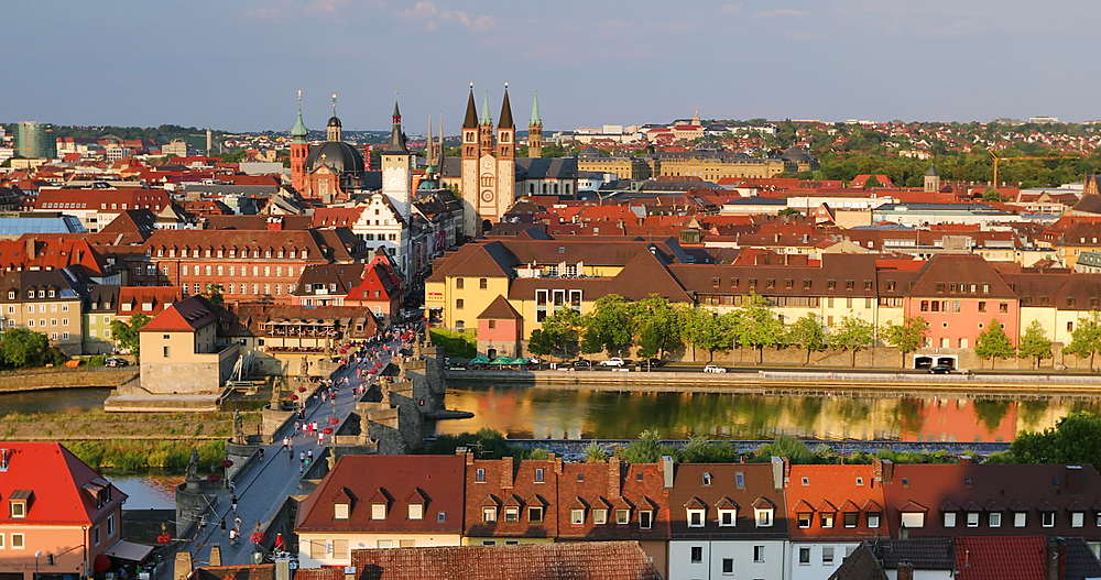 View of Wurzburg, Bavaria, Germany