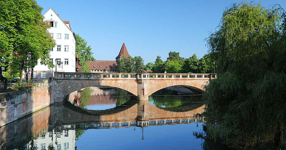 Max Bridge on River Pegnitz, Nuremberg, Bavaria, Germany - 800-3639