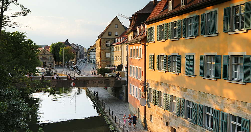 Houses along River Regnitz, Bamberg, Bavaria, Germany - 800-3640
