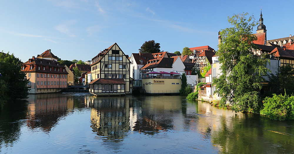Hotel Nepomuk and Eckerts Restaurant on River Regnitz, Bamberg, Bavaria, Germany - 800-3643