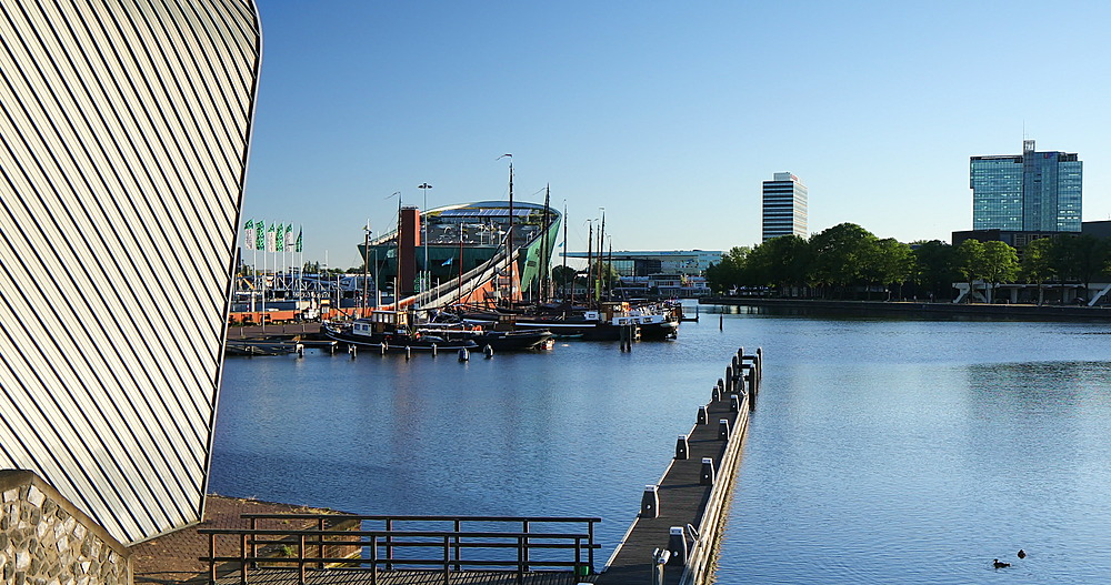 Arcam Museum and NEMO Science Museum in Oosterdok, Amsterdam, Netherlands - 800-3645