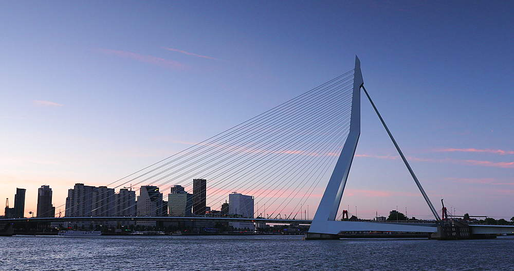 Erasmus Bridge at sunset, Rotterdam, Netherlands - 800-3651