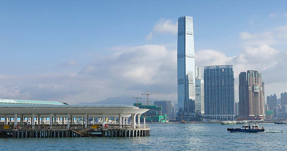 International Commerce Centre (ICC) and Victoria Harbour, Hong Kong - 800-3656