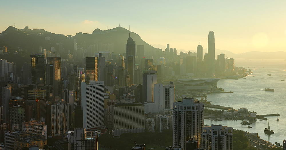 View of Hong Kong Island and Victoria Harbour, Hong Kong - 800-3665