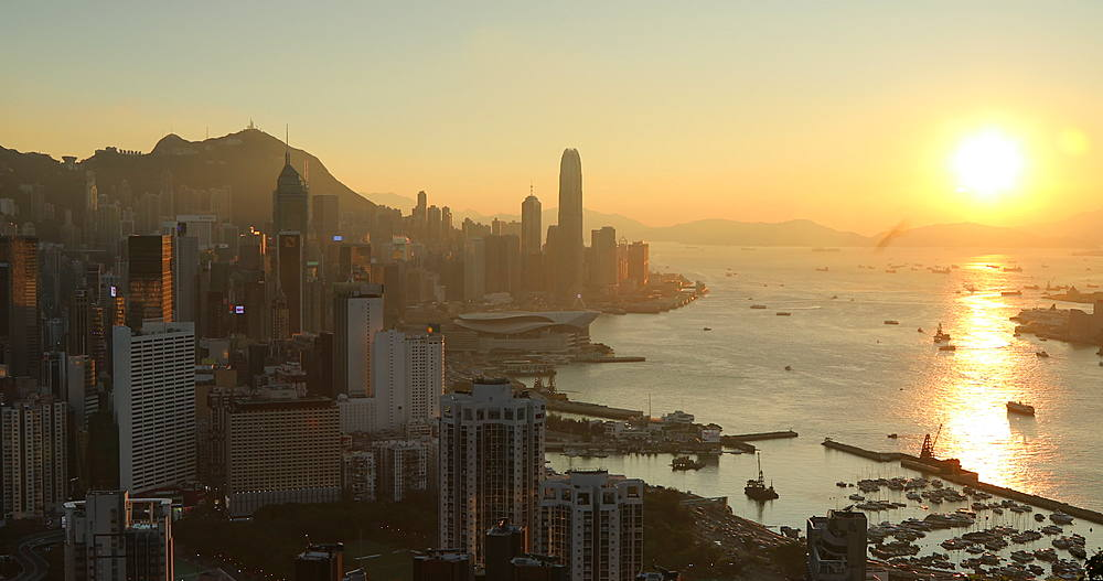 View of Hong Kong Island and Victoria Harbour, Hong Kong - 800-3666