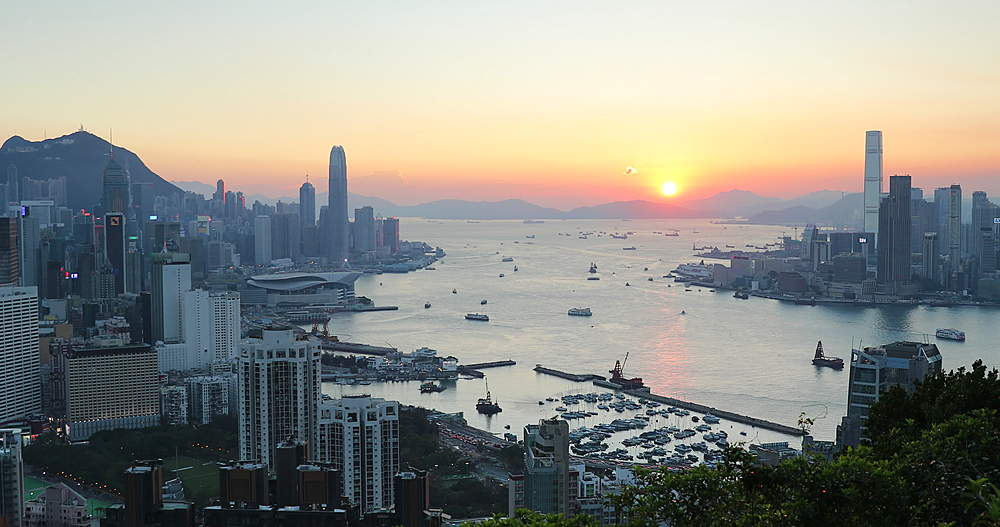 View of Hong Kong Island, Kowloon and Victoria Harbour, Hong Kong - 800-3667