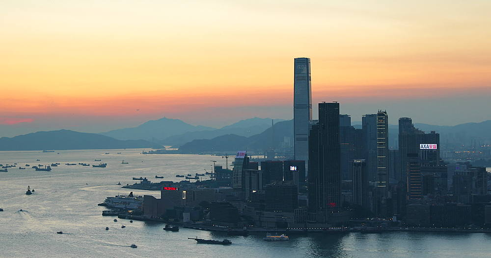 View of International Commerce Centre (ICC) and Kowloon, Hong Kong - 800-3668