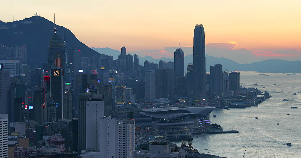 View of Hong Kong Island and Victoria Harbour, Hong Kong - 800-3669