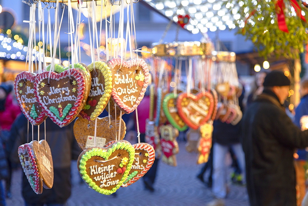 Cookies at Christmas Market, Wiesbaden, Hesse, Germany - 800-3686