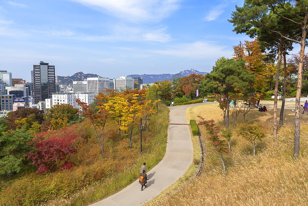 Namsan Baekbeom Park, Seoul, South Korea, Asia - 800-3840