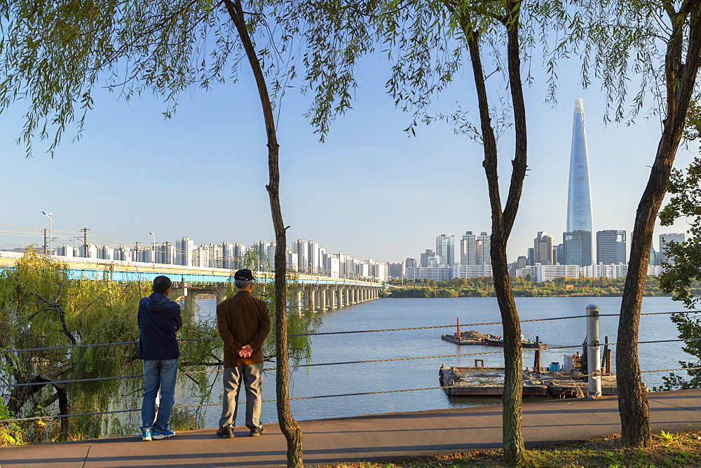 Lotte World Tower and Nam River, Seoul, South Korea, Asia