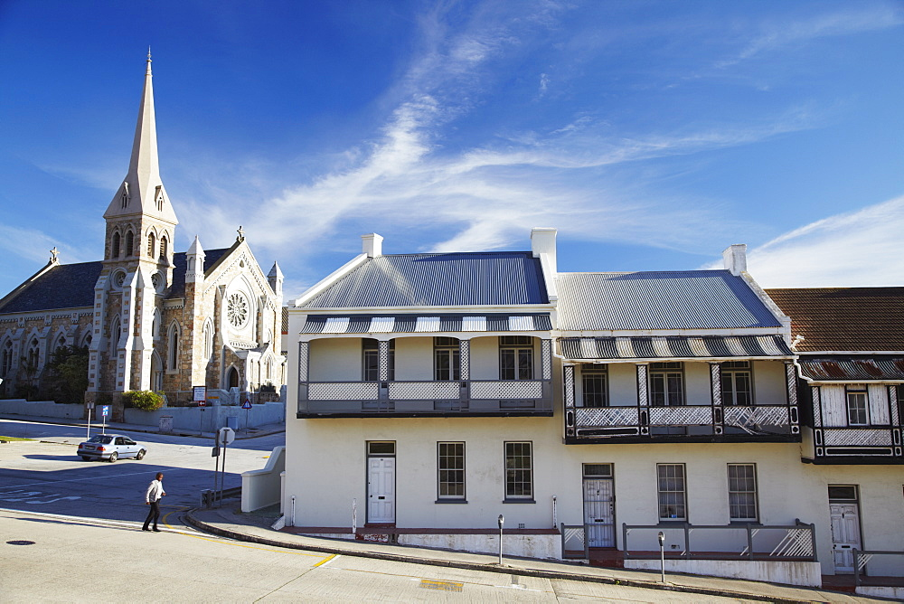 Victorian style terraced houses on Donkin Street, Port Elizabeth, Eastern Cape, South Africa, Africa