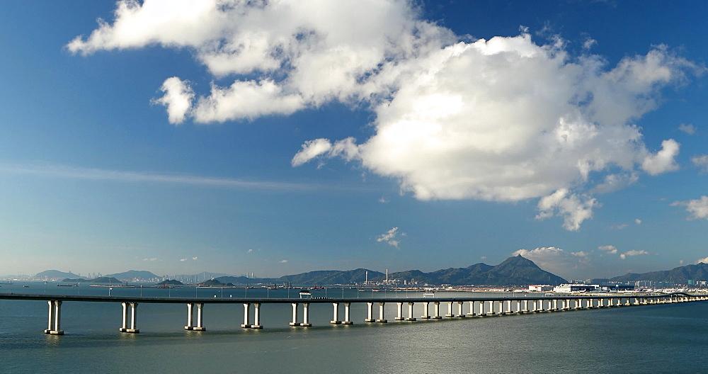 Hong Kong-Zhuhai-Macau Bridge and Hong Kong International Airport, Hong Kong, China, Asia