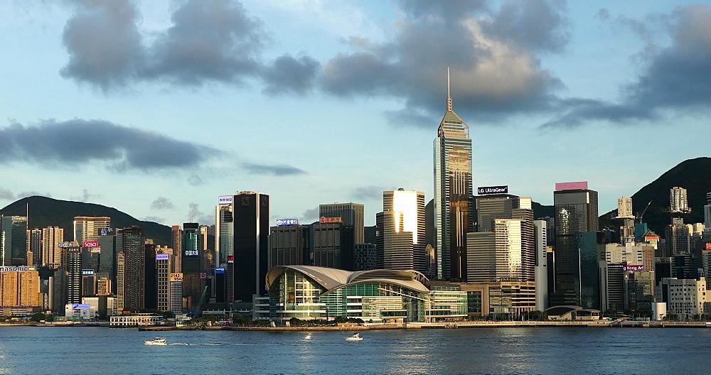 Hong Kong Island skyline and Victoria Harbour, Hong Kong, China, Asia