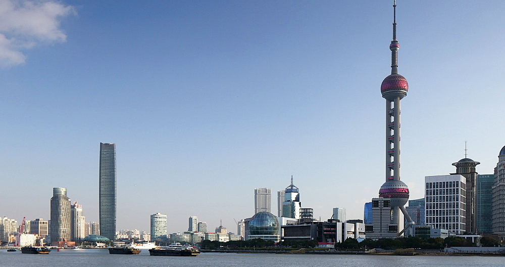 Skyline of Pudong and Huangpu River, Shanghai, China - 800-4031