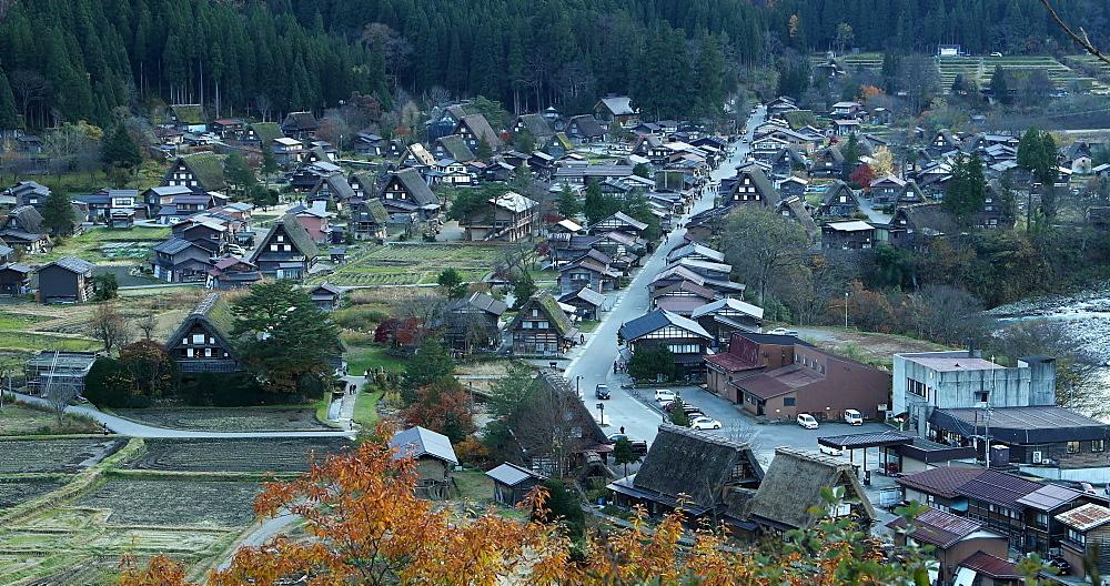 Traditional houses of Shirakawa, Ogimachi, Gifu, Honshu, Japan, Asia