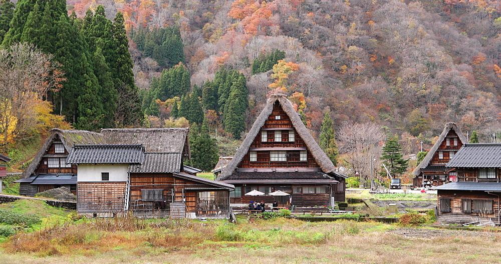 Traditional houses of Suganuma, Gifu, Honshu, Japan, Asia