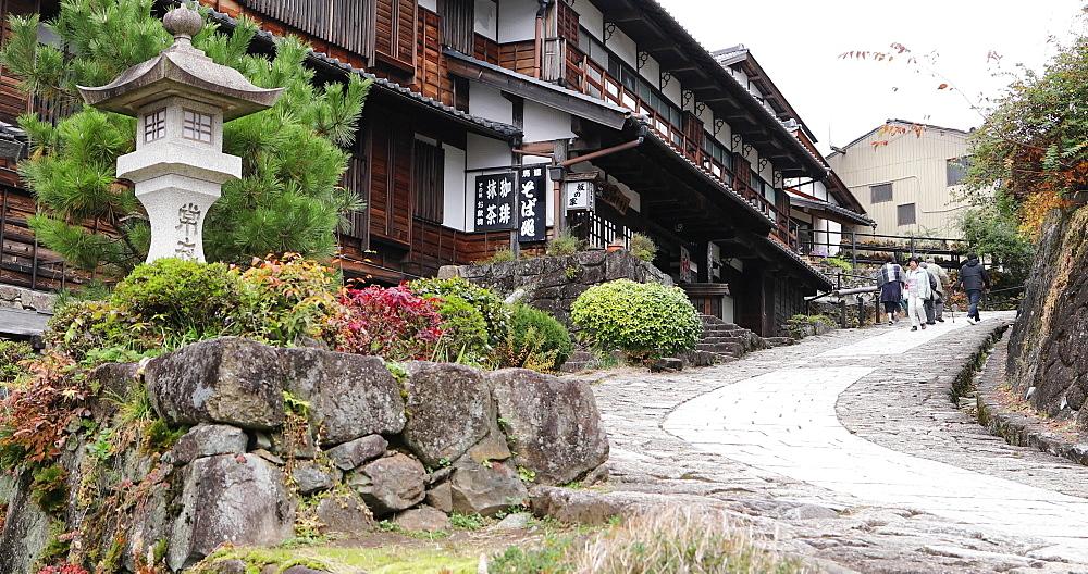 Magome village on the Nakasendo Way, Gifu, Honshu, Japan, Asia