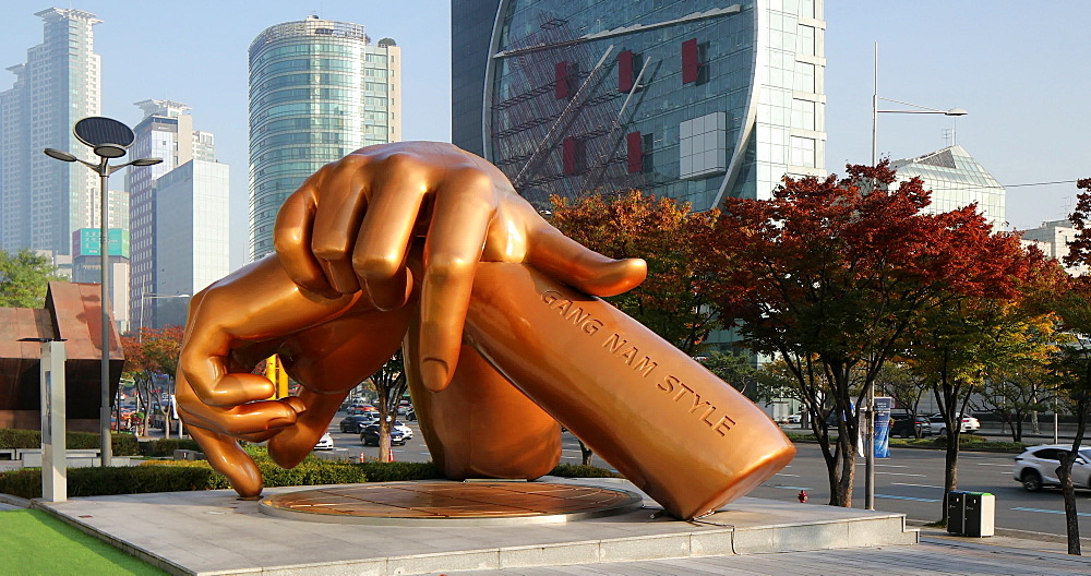 Sculpture of Gangnam Style song, Seoul, South Korea - 800-4087