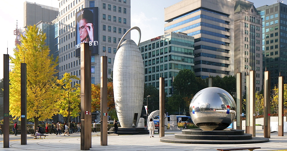 Square on Teheran-ro, Seoul, South Korea, Asia