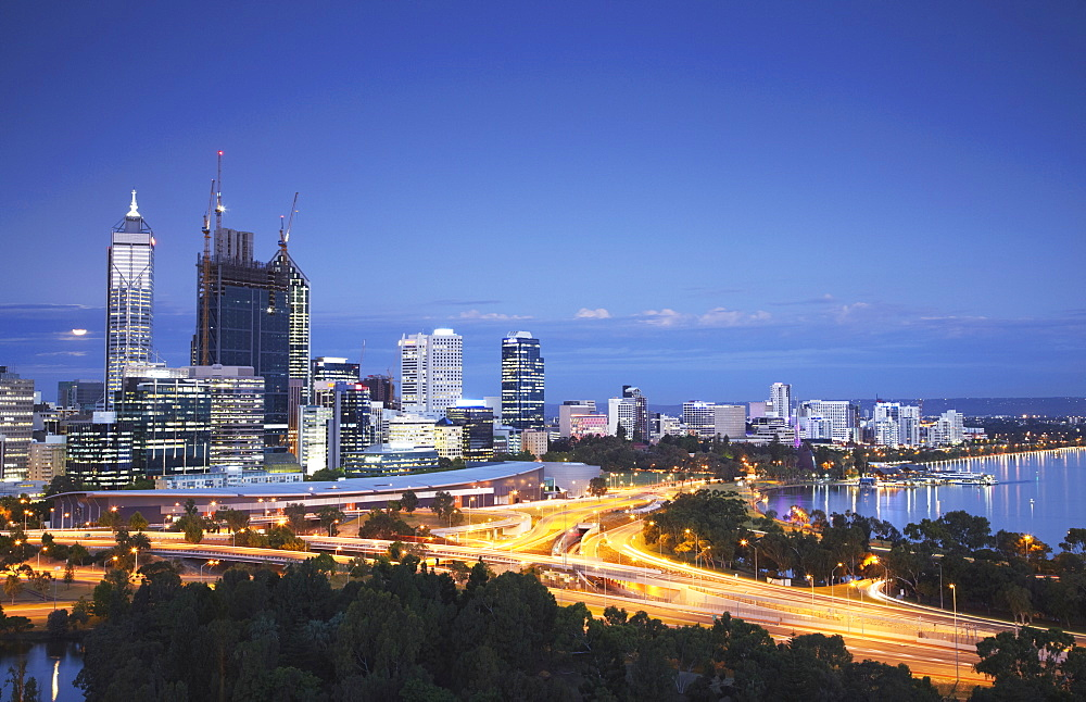 View of city skyline, Perth, Western Australia, Australia, Pacific