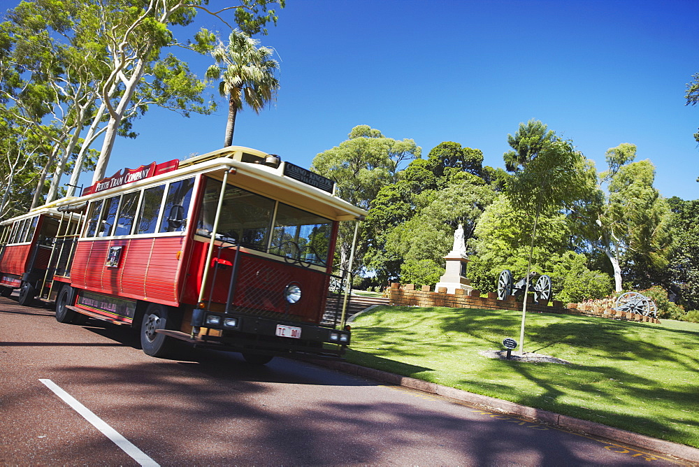 Perth tourist tram in King's Park, Perth, Western Australia, Australia, Pacific