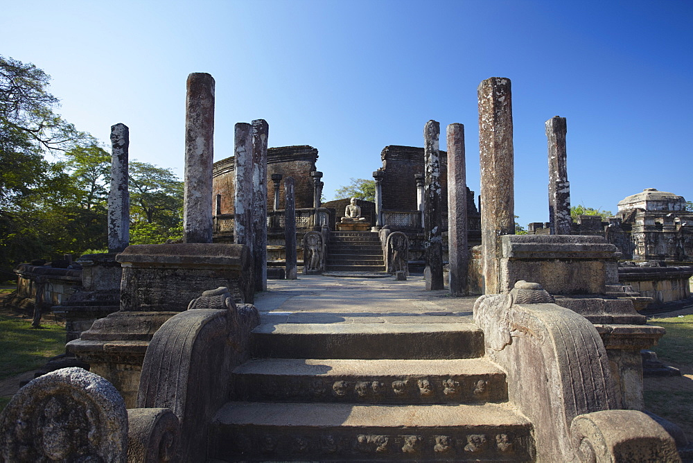 Vatadage, Quadrangle, Polonnaruwa, UNESCO World Heritage Site, North Central Province, Sri Lanka, Asia