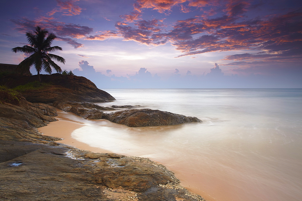 Bentota beach at sunset, Western Province, Sri Lanka, Asia