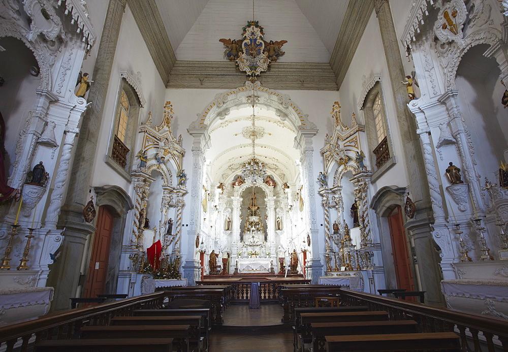 Interior of (Nossa Senhora do Carmo) Our Lady of Mount Carmel) Church, Sao Joao del Rei, Minas Gerais, Brazil, South America
