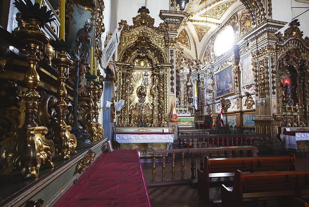 Interior of Cathedral of Our Lady of Pilar (Catedral Basilica do Pilar), Sao Joao del Rei, Minas Gerais, Brazil, South America