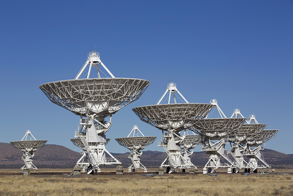 The Very Large Array (The National Radio Astronomy Observatory), multiple antennas, New Mexico, United States of America, North America