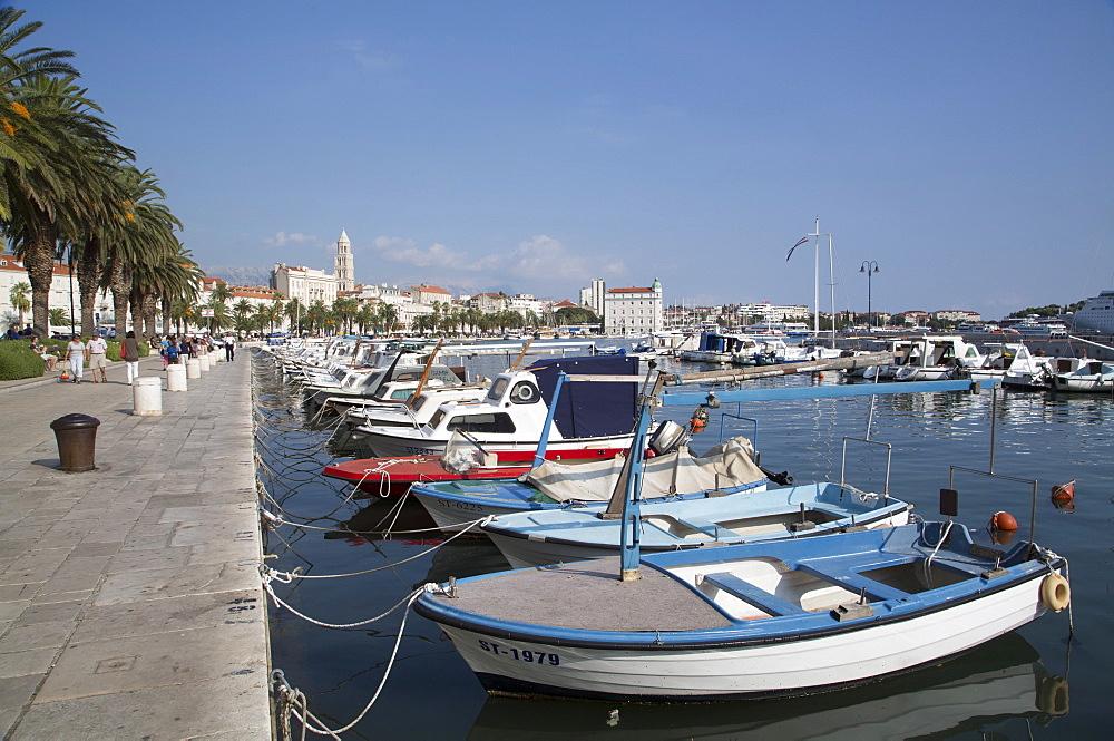 Small fishing boats, Split Harbor, Split, Dalmatia, Croatia, Europe
