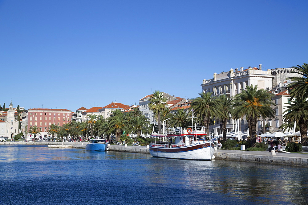 The Riva, Split Harbor, Split, Dalmatia, Croatia, Europe