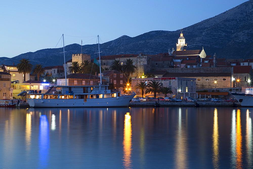 Korcula Town, evening, Korcula Island, Croatia, Europe