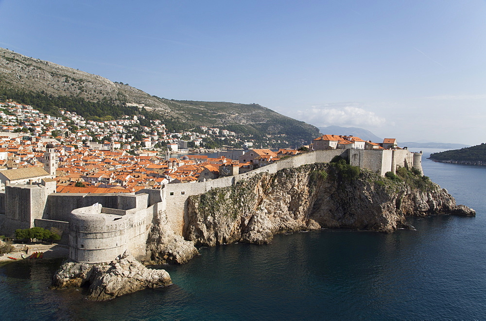 Fort Bokar, the round structure in front, Old Town, UNESCO World Heritage Site, Dubrovnik, Croatia, Europe