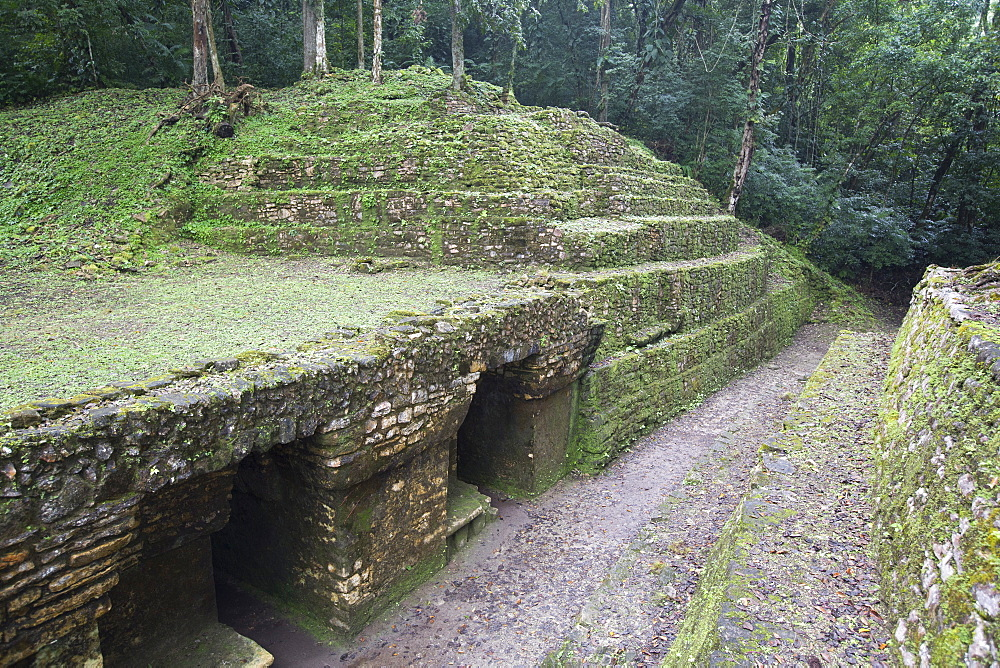Exiting the Labyrinth, Mayan Archaeological Site, Yaxchilan, Chiapas, Mexico, North America