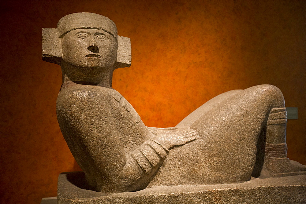 Maya Chac-Mool from Chichen Itza, National Museum of Anthropology, Mexico City, Mexico, North America - 801-1282