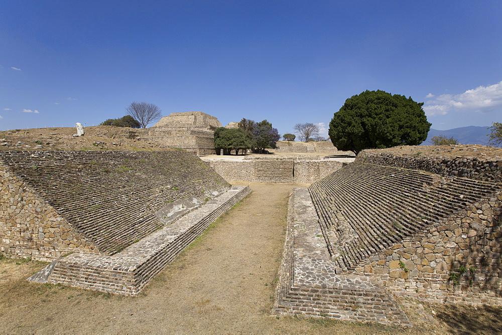 Ball Court, Monte Alban, UNESCO World Heritage Site, Oaxaca, Mexico, North America
