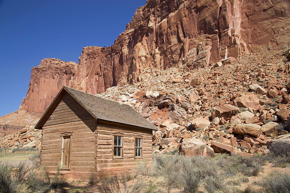 Fruita Schoolhouse dating from 1896, Capitol Reef National Park, Utah, United States of America, North America