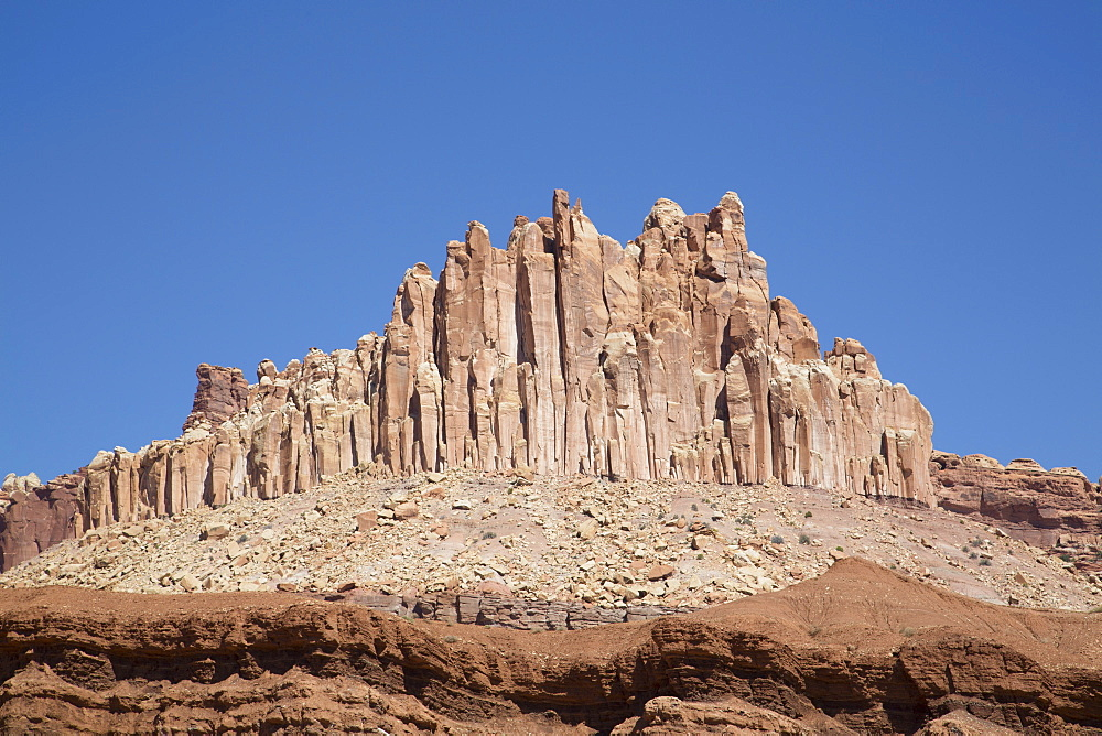 The Castle, a sandstone formation, Capitol Reef National Park, Utah, United States of America, North America